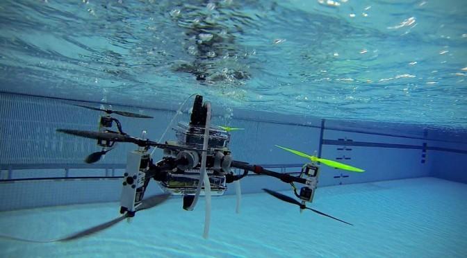 Дрон который может плавать под водой и летать по воздуху