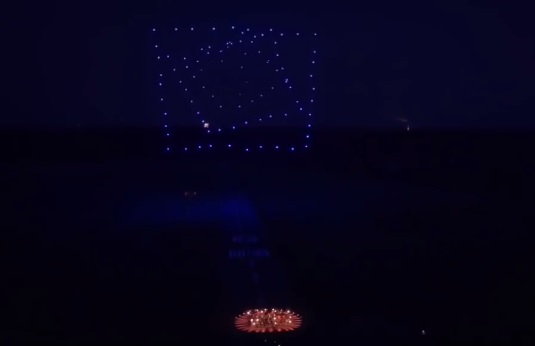 100 Дронов исполняют танец под музыку Бетховена