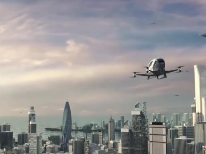 Летающий верто-дрон Ehang 184